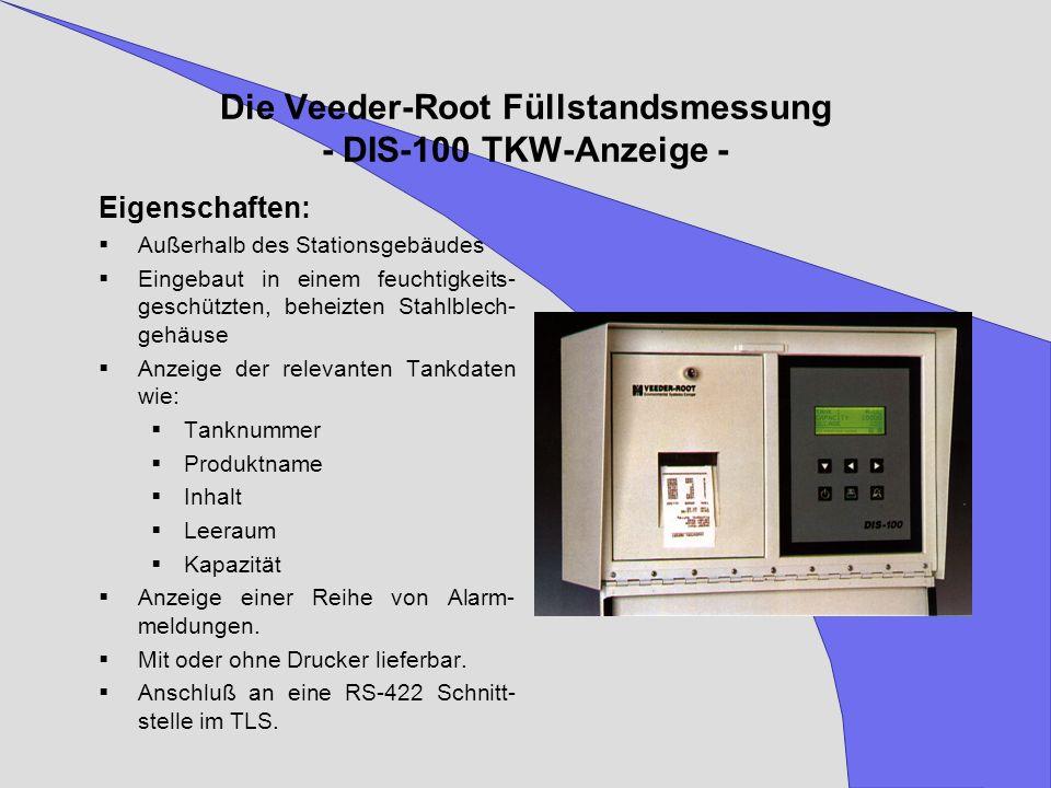 Die Veeder-Root Füllstandsmessung - DIS-100 TKW-Anzeige -