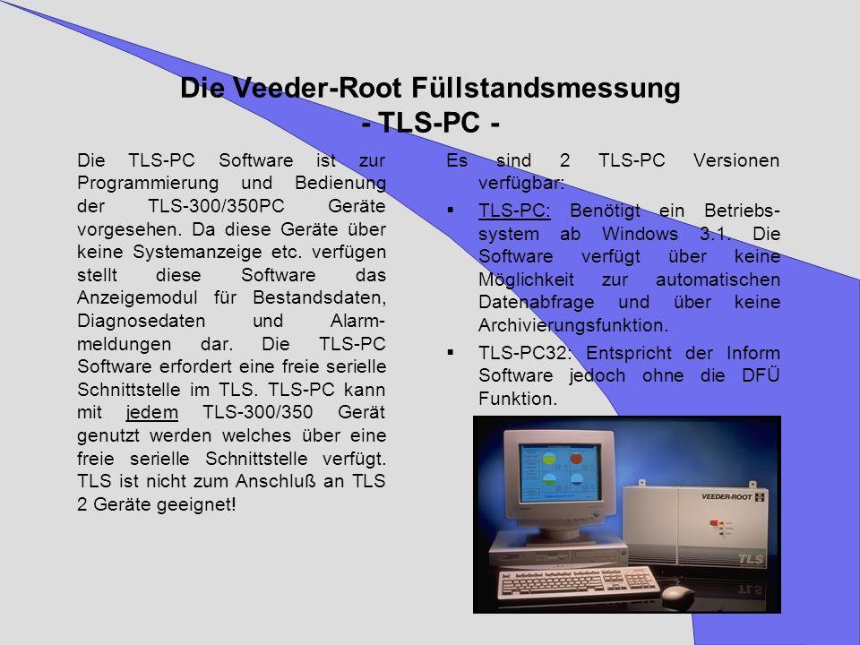 Die Veeder-Root Füllstandsmessung - TLS-PC -