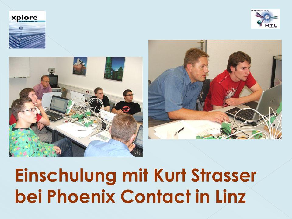 Einschulung mit Kurt Strasser bei Phoenix Contact in Linz