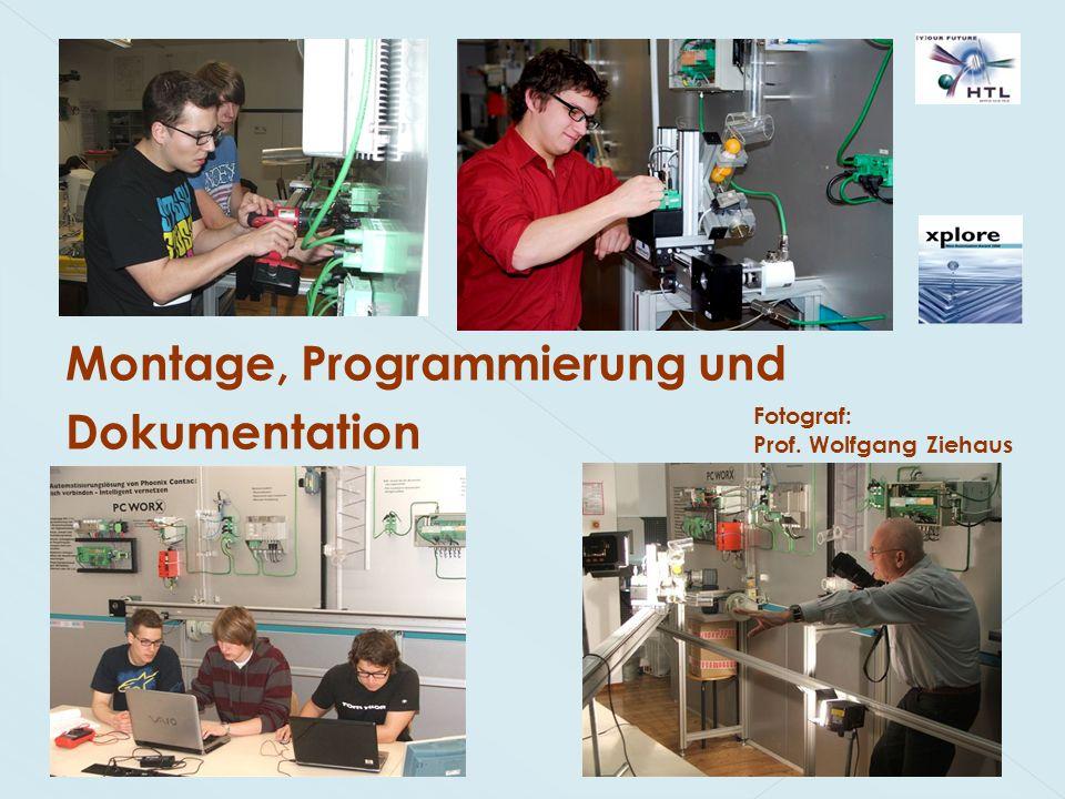 Montage, Programmierung und Dokumentation