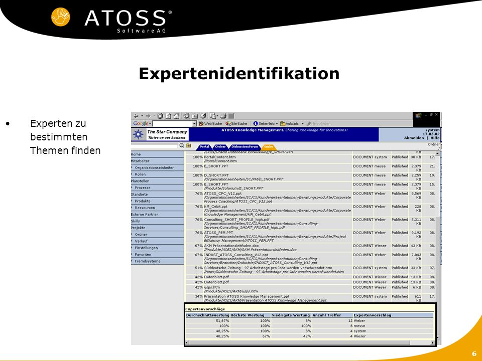 Expertenidentifikation