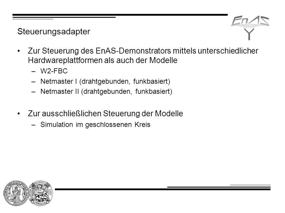 Steuerungsadapter Zur Steuerung des EnAS-Demonstrators mittels unterschiedlicher Hardwareplattformen als auch der Modelle.