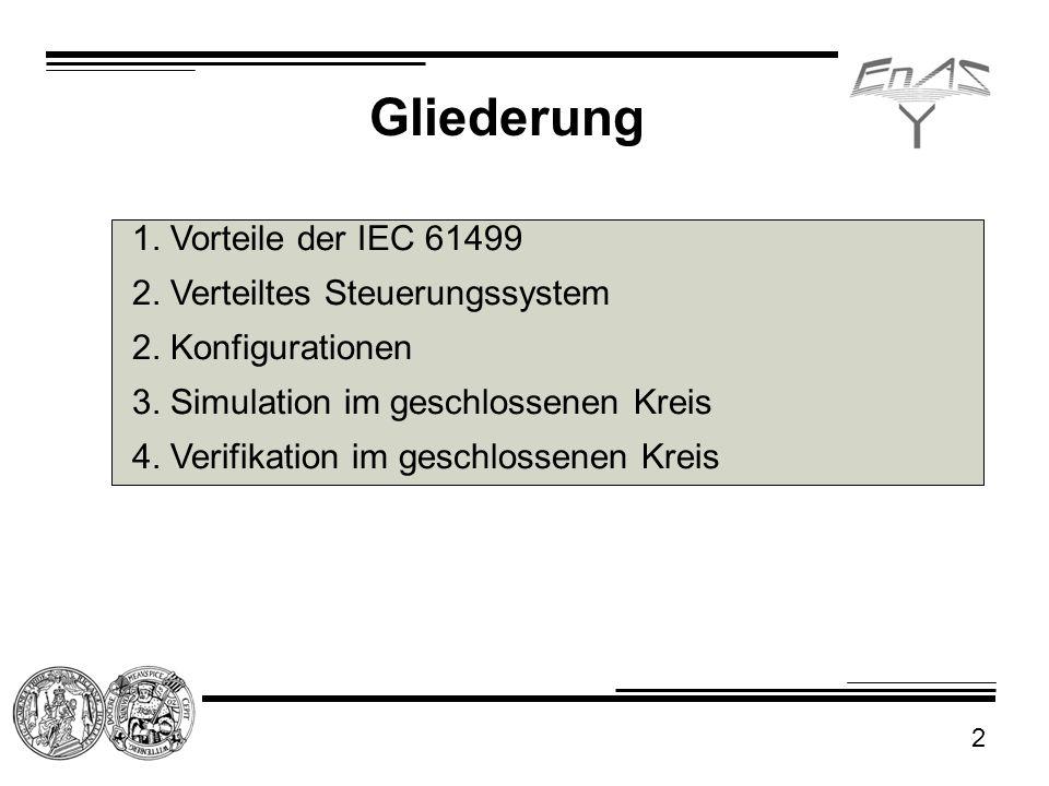 Gliederung 1. Vorteile der IEC 61499 2. Verteiltes Steuerungssystem