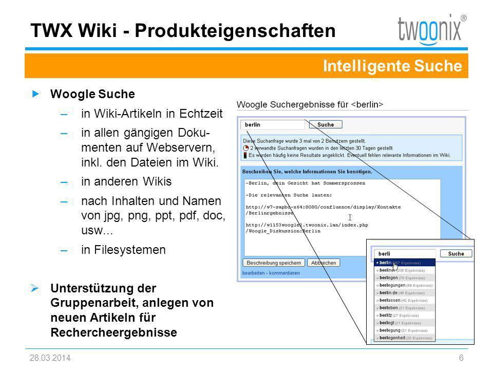 TWX Wiki - Produkteigenschaften