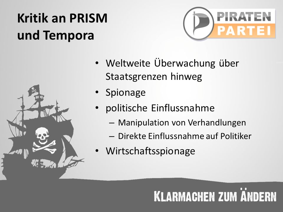 Kritik an PRISM und Tempora