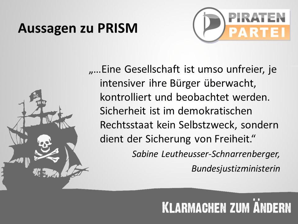 Aussagen zu PRISM