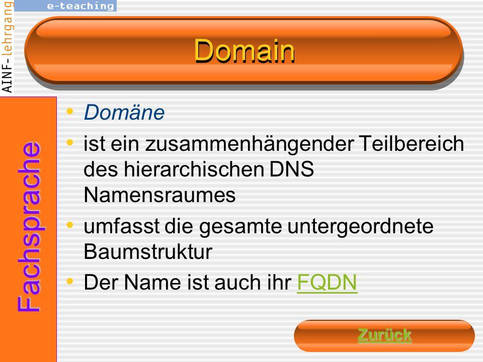 Domain Fachsprache Domäne