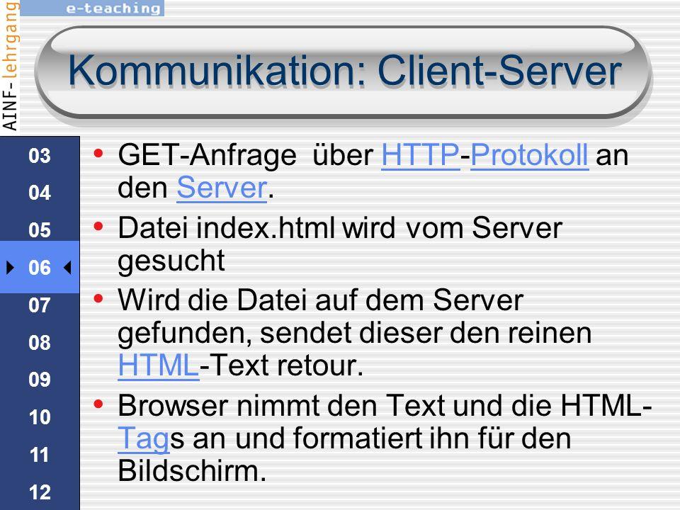 Kommunikation: Client-Server