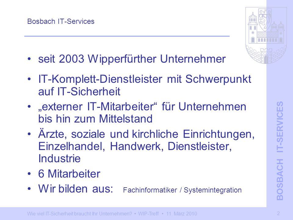 seit 2003 Wipperfürther Unternehmer