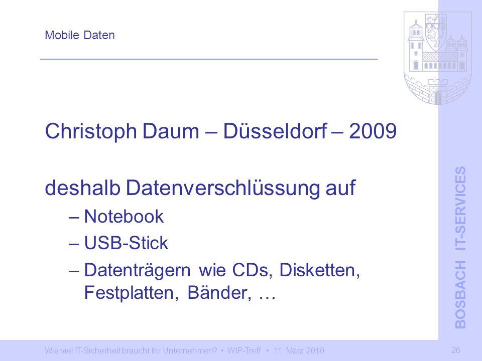 Christoph Daum – Düsseldorf – 2009 deshalb Datenverschlüssung auf