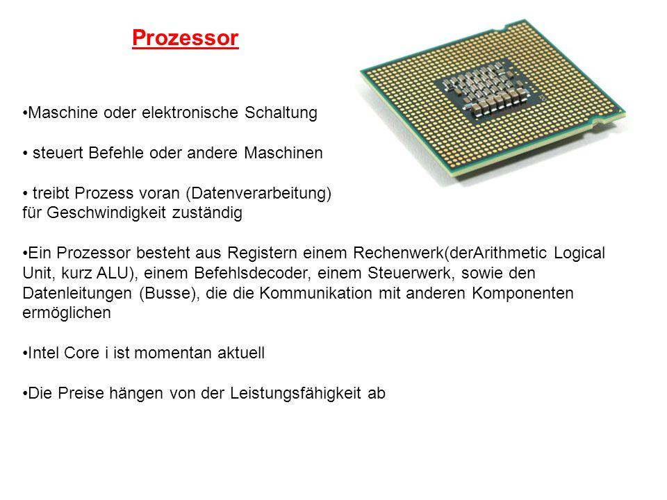 Prozessor Maschine oder elektronische Schaltung