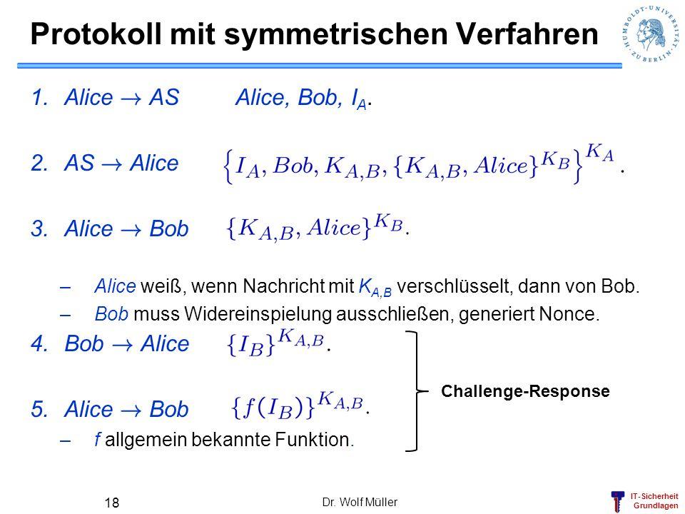 Protokoll mit symmetrischen Verfahren