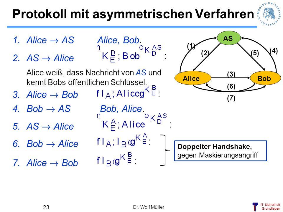 Protokoll mit asymmetrischen Verfahren