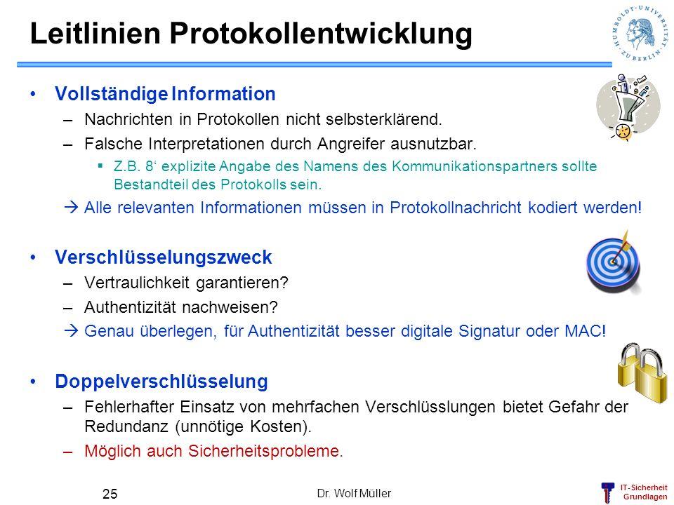 Leitlinien Protokollentwicklung