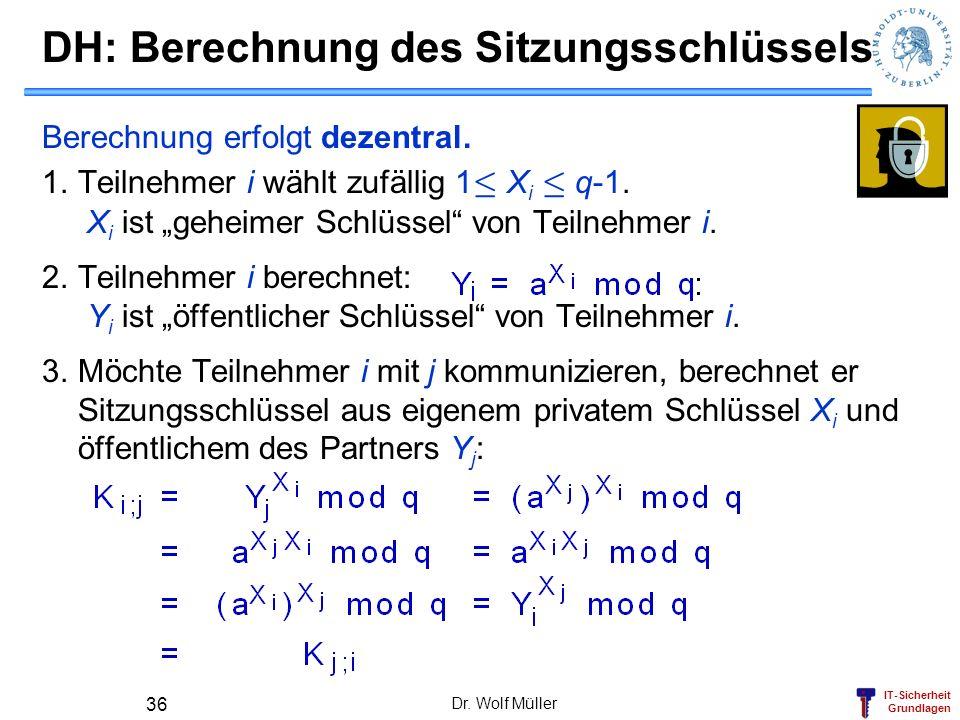 DH: Berechnung des Sitzungsschlüssels
