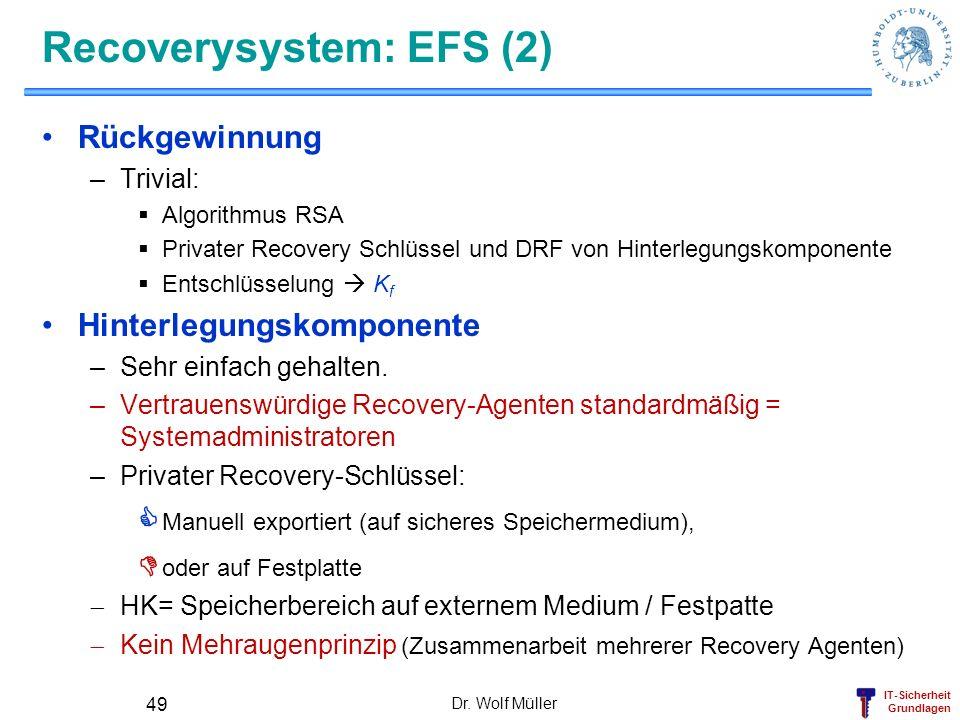 Recoverysystem: EFS (2)