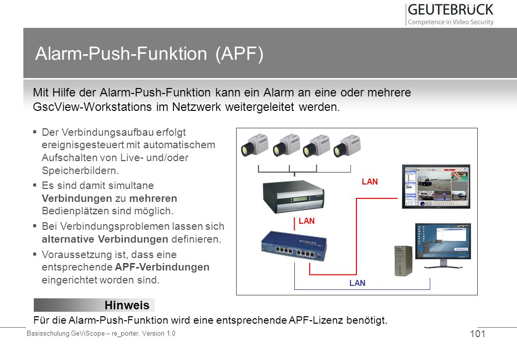 Alarm-Push-Funktion (APF)