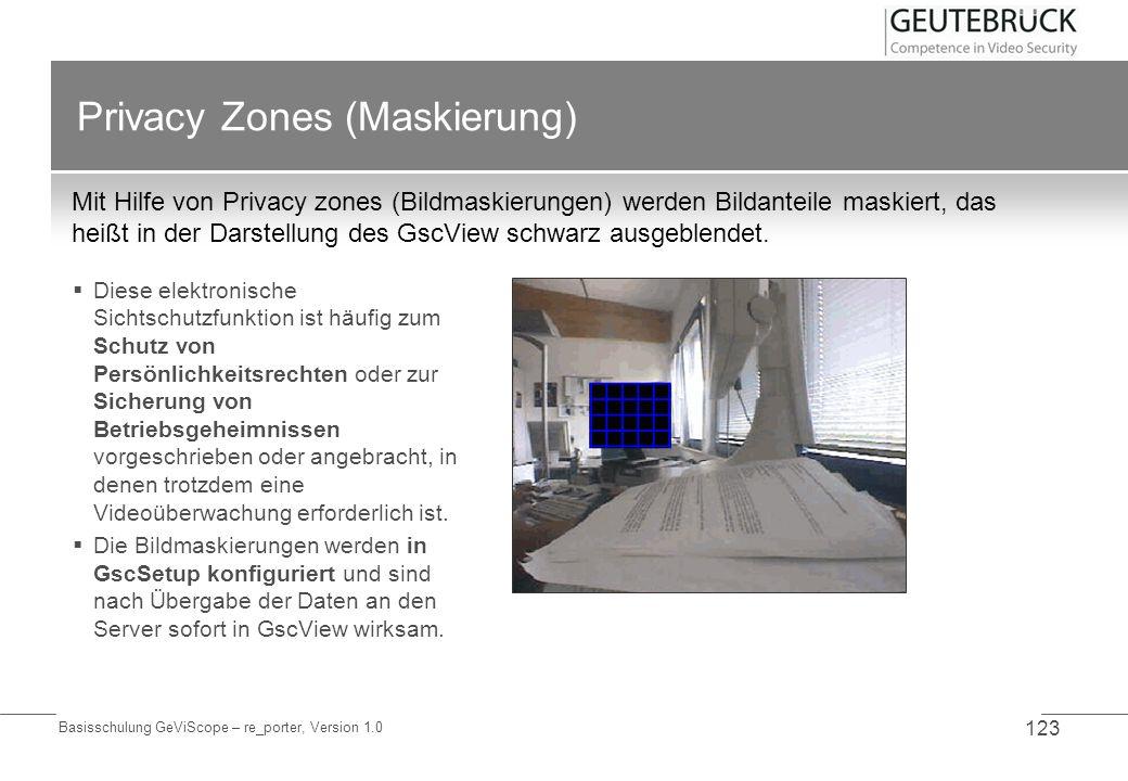 Privacy Zones (Maskierung)