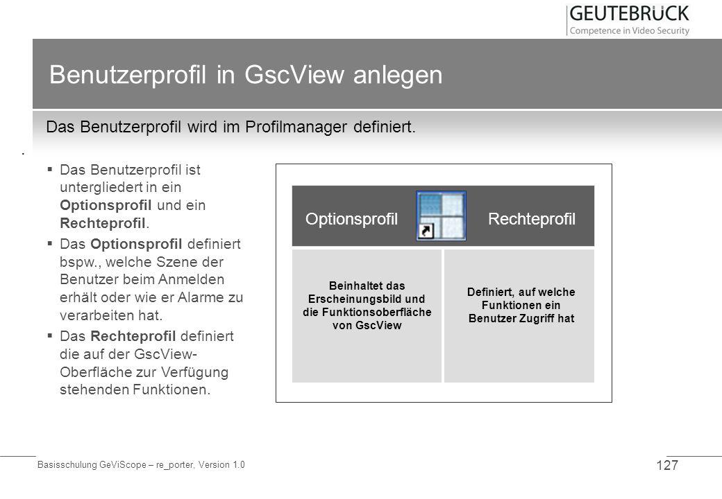 Benutzerprofil in GscView anlegen