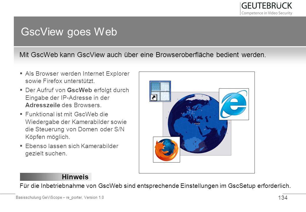 GscView goes Web Mit GscWeb kann GscView auch über eine Browseroberfläche bedient werden.