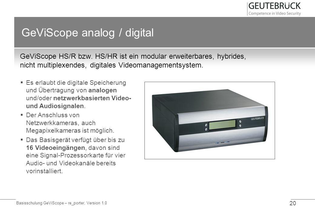 GeViScope analog / digital
