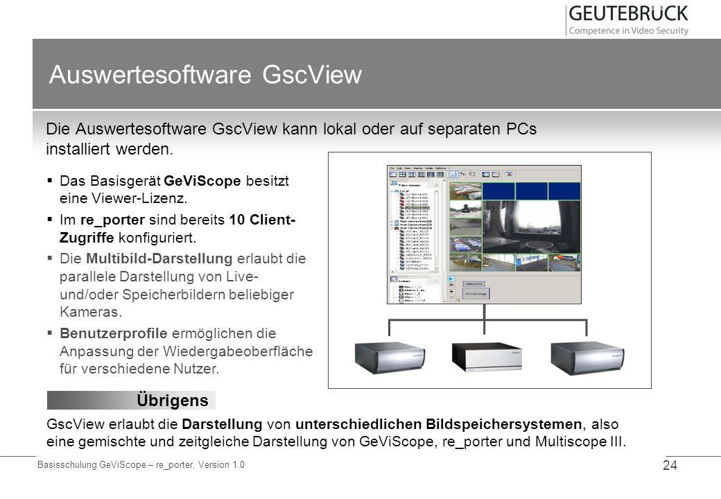 Auswertesoftware GscView