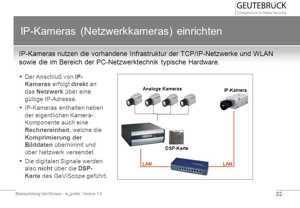 IP-Kameras (Netzwerkkameras) einrichten