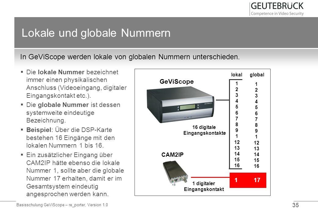 Lokale und globale Nummern