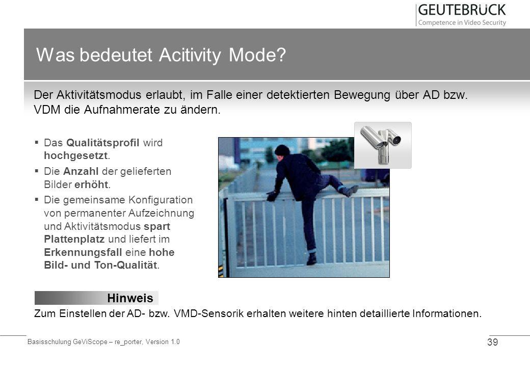 Was bedeutet Acitivity Mode