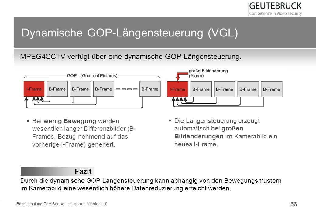 Dynamische GOP-Längensteuerung (VGL)