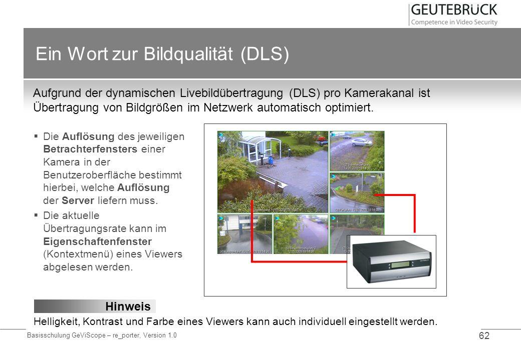 Ein Wort zur Bildqualität (DLS)