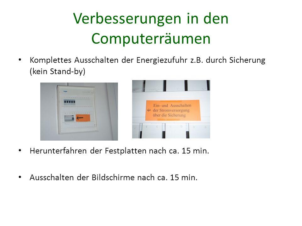 Verbesserungen in den Computerräumen