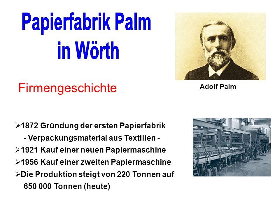 Papierfabrik Palm in Wörth