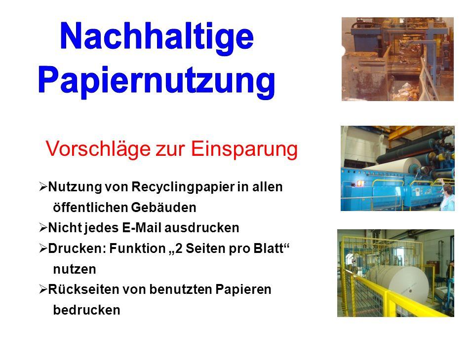 Nachhaltige Papiernutzung
