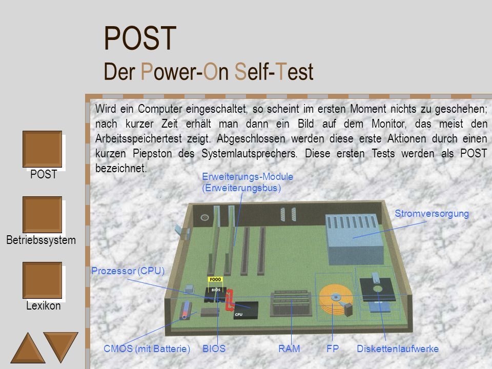 POST Der Power-On Self-Test