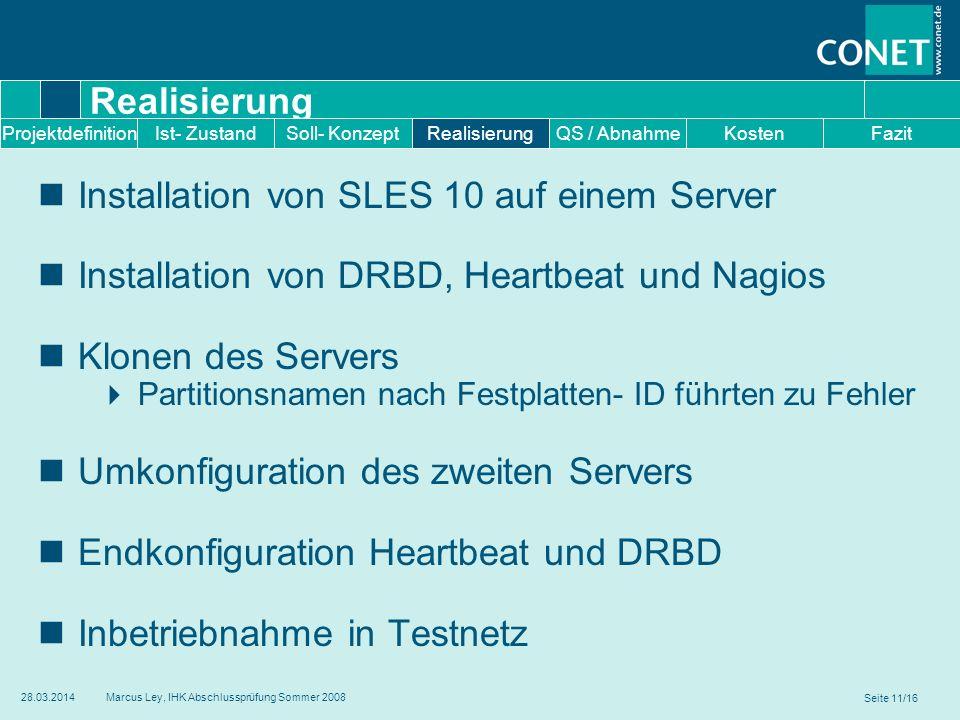 Installation von SLES 10 auf einem Server