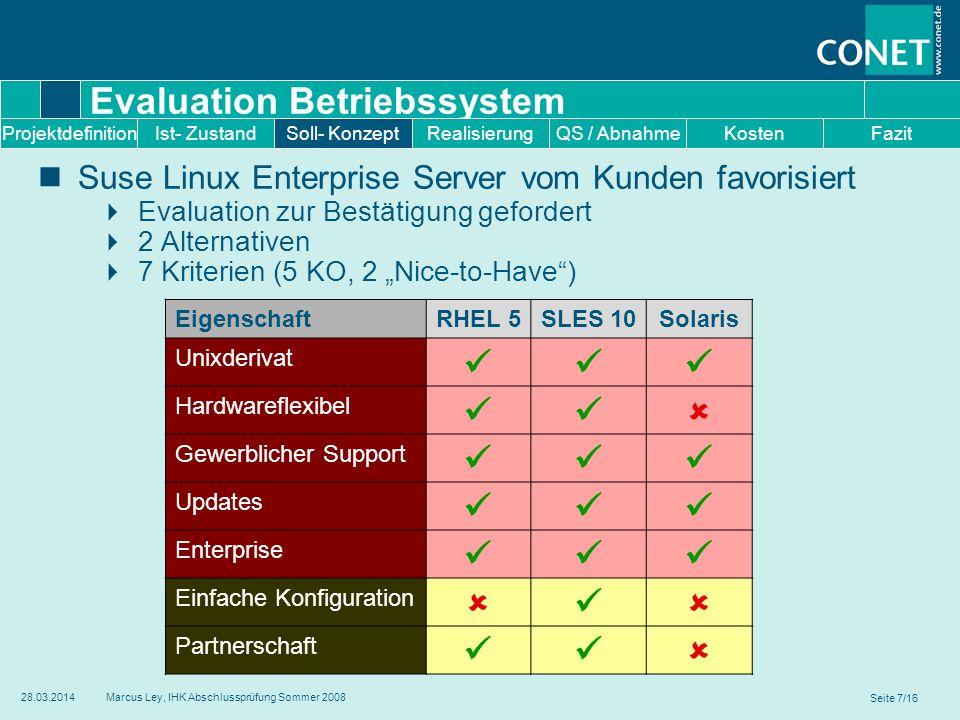 Evaluation Betriebssystem