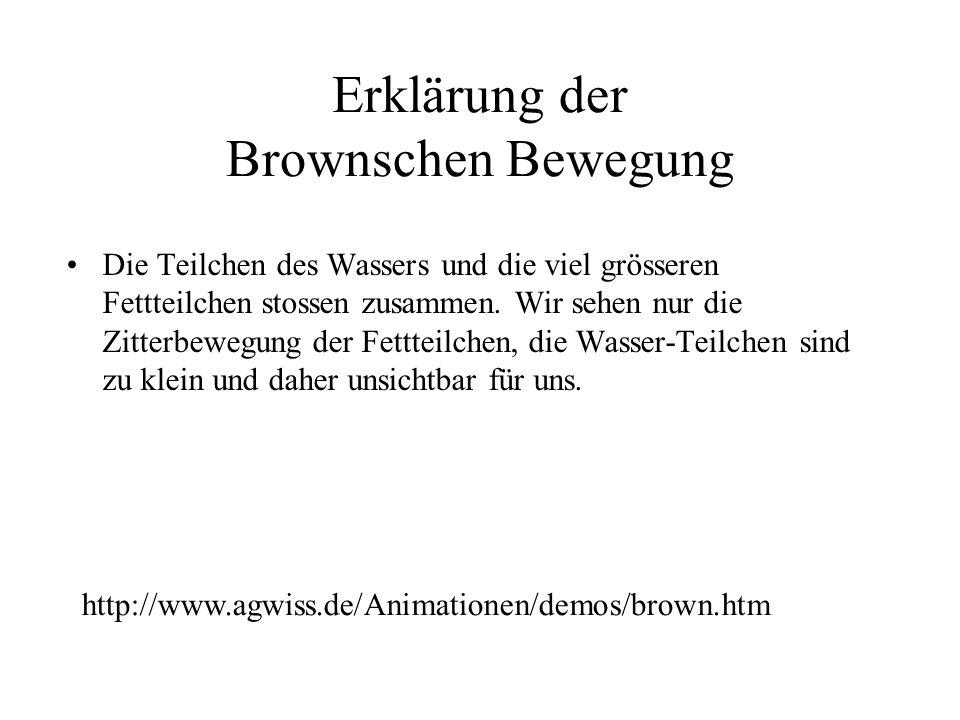 Erklärung der Brownschen Bewegung
