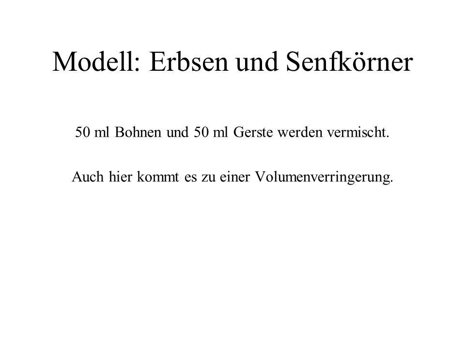 Modell: Erbsen und Senfkörner