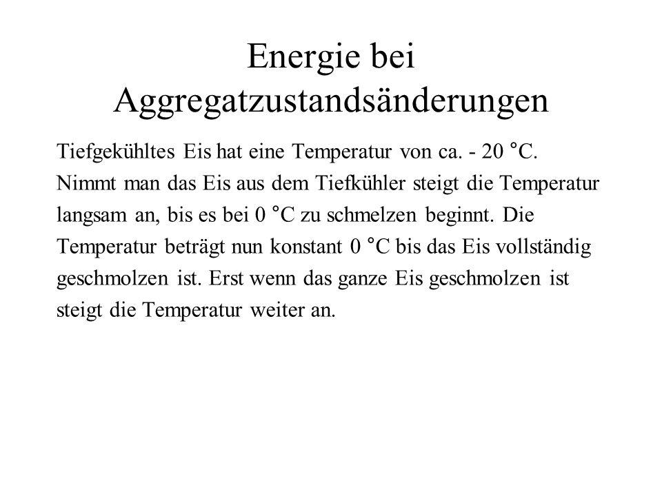 Energie bei Aggregatzustandsänderungen