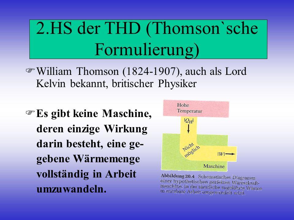 2.HS der THD (Thomson`sche Formulierung)