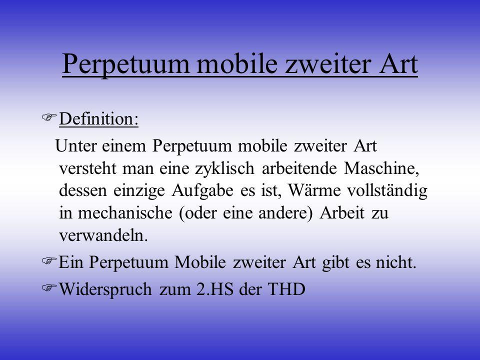 Perpetuum mobile zweiter Art