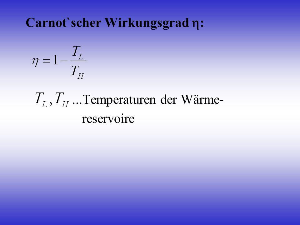 Carnot`scher Wirkungsgrad :