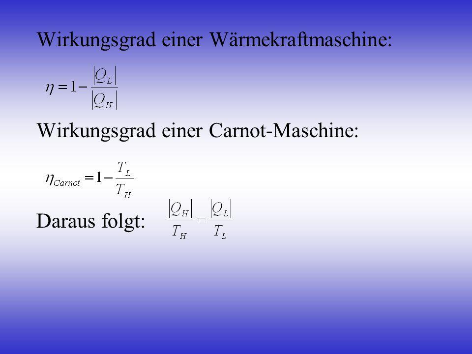 Wirkungsgrad einer Wärmekraftmaschine: