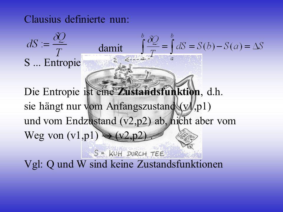 Clausius definierte nun: