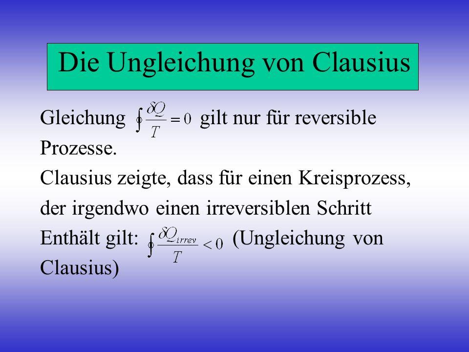 Die Ungleichung von Clausius