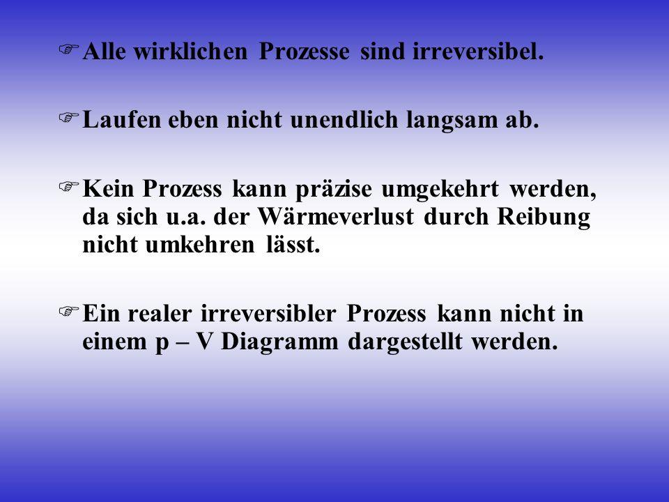 Alle wirklichen Prozesse sind irreversibel.