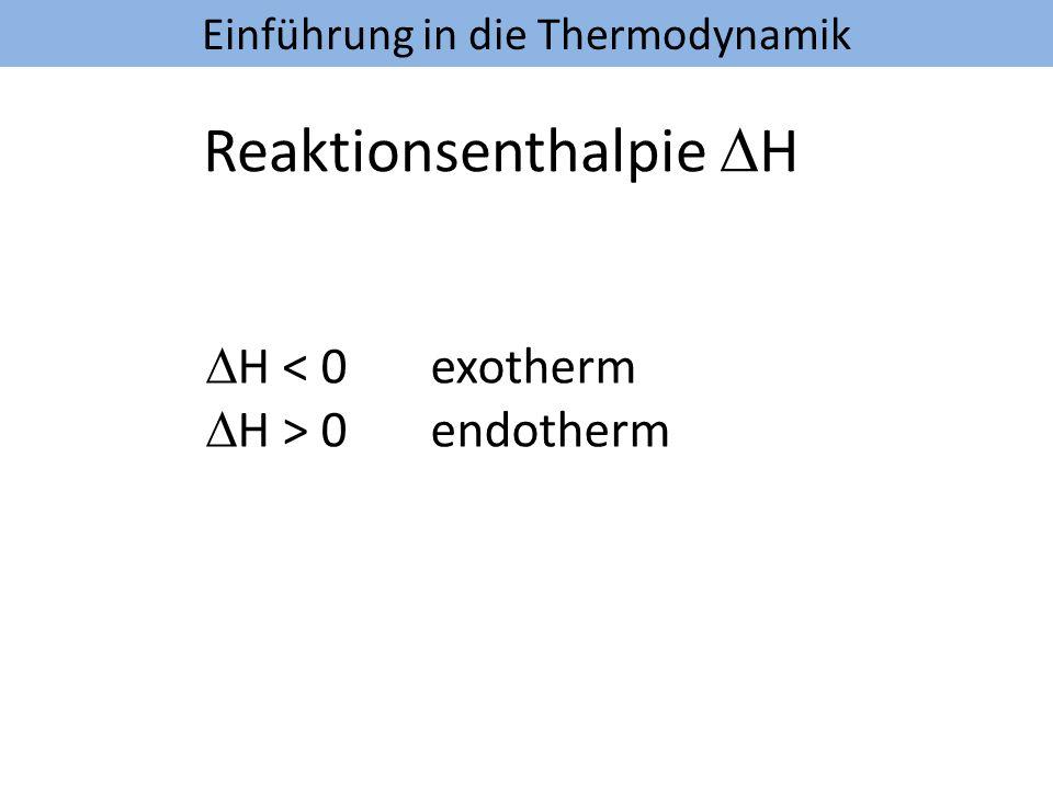 Reaktionsenthalpie DH