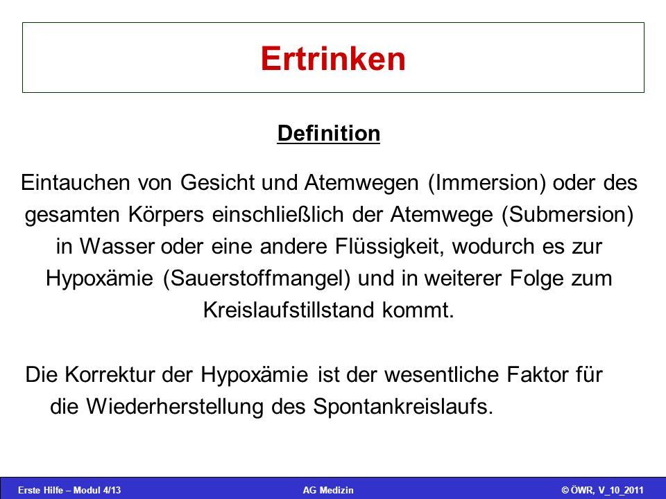 Ertrinken Definition.