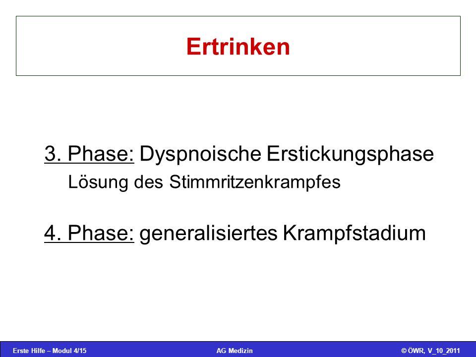 Ertrinken 3. Phase: Dyspnoische Erstickungsphase